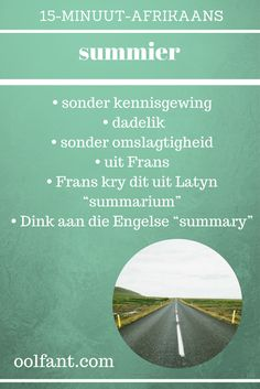 Nog 'n woord wat Afrikaans van Frans af kry. Duathlon Training, Afrikaans Language, Afrikaanse Quotes, Educational Activities, Homework, Spelling, Classroom, Wallpapers, Teaching