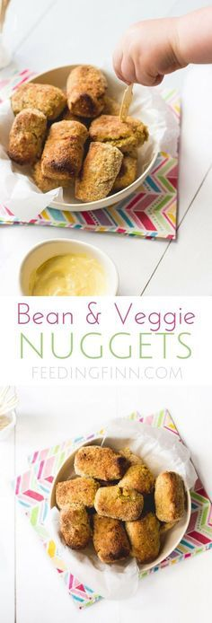 Bean and Veggie Nuggets are a great finger food for kids. Great for BLW (baby led weaning)