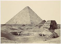 Sphynx and Great Pyramid, 1857