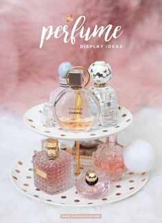 Perfume display and storage ideas | www.flipandstyle.com