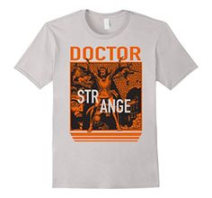 Marvel+Comics+Retro+Shirt Products : Marvel Doctor Strange Orange Retro Comic Graphic T-Shirt