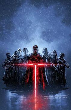 To A Waterfowl - Star Wars Poster - Ideas of Star Wars Poster - - Long live the Renperor! Star Wars Fan Art, Star Wars Concept Art, Star Wars Sith, Star Wars Meme, Clone Wars, Star Trek, Cuadros Star Wars, Images Star Wars, Knights Of Ren