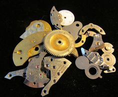 Destash Watch Clock Parts Assemblage by amystevensoriginals, $12.00
