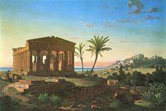 tempio della Concordia rappresentato da Leo von Klenze_Agrigento