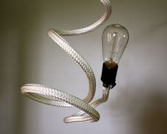 Bare Bulb Bendable Hanging Pendant Light Fixture by mysecretlite