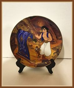 Traveling Companions Plate Aladdin Walt Disney by bettysworld4u