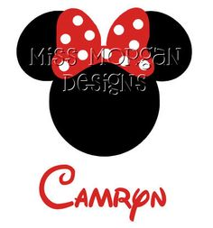 Personalized Minnie Mouse Disney iron on for shirt by MissMorgan, $7.00