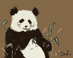 hungry panda art print by austin d society6