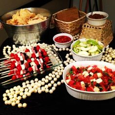 How to decorate for an office party wedding shower! Party food!