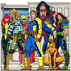 X-Force!  Did you know that X-force was started by Cable? After the events of X-Tinction Agenda he believed the kids of New Mutants needed to grow up and take the battle to the enemy. I do love the 90′s look!