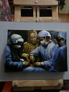 Quadro Arte Francesa...Jesus Médico dos Médicos...linha Duarts.