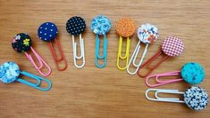 Marca paginas Diy Crafts To Do, Clay Crafts, Arts And Crafts, Paper Crafts, Paperclip Crafts, Paperclip Bookmarks, Paper Clips Diy, Sewing To Sell, Cute Planner