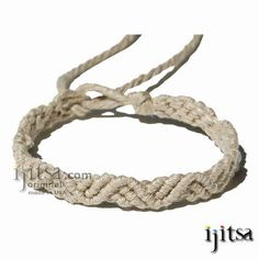 Hemp Jewelry | Natural hemp ZigZag Hemp Bracelet or Anklet :: Ijitsa