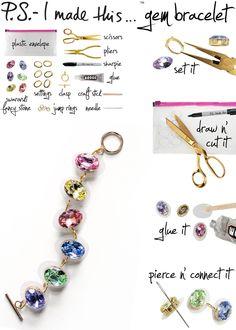 DIY: gem bracelet