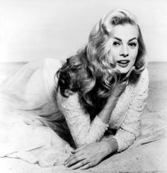 Anita Ekberg - born Kerstin Anita Marianne Ekberg September 1931 – 11 January was a Swedish-Italian actress, model, and sex symbol. She is best known for her role as Sylvia in the Federico Fellini film La Dolce Vita Old Hollywood Actresses, Swedish Actresses, Old Hollywood Stars, Classic Actresses, Old Hollywood Glamour, Vintage Hollywood, Beautiful Actresses, Classic Hollywood, 50s Actresses