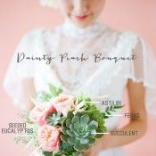 Bridal Bouquet Recipe: Dainty Peach Bouquet