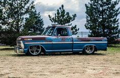 Vintage Pickup Trucks, Classic Ford Trucks, Ford Pickup Trucks, Gmc Trucks, F100 Truck, Bronco Truck, Ford Bronco, Dropped Trucks, Lowered Trucks