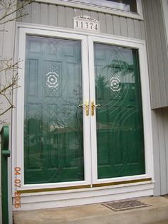 Jalousies window and window security on pinterest for French storm doors