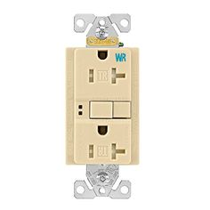 Eaton Gfci Selftest 20a 125v Tamper Weather Resistant Duplex Receptacle With Standard Size Wallplate Ivory