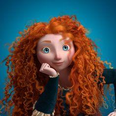 1. Mérida de Valiente (Brave) tiene 1500 rulos creados individualmente y juntos crean una cabellera de 111700 hebras de cabello.