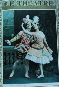 Nijinsky and Pavlova in La Pavilion d'Armide, 1909