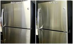 How to Naturally Clean & Polish Stainless Steel | eHow Cleaning Stainless Steel Fridge, Best Stainless Steel Cleaner, Clean Refrigerator, Stainless Steel Kitchen Appliances, Stainless Steel Refrigerator, Cleaning Appliances, Stainless Steel Polish, Household Cleaning Tips, House Cleaning Tips