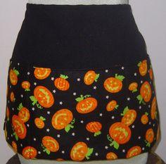 Halloween Apron Three Pocket Funny Pumpkin Face