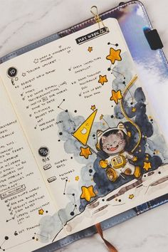 Want to change things up and switch your theme this month! Check out these space and galaxy themed bullet journal cover pages, weekly spreads and more! Bullet Journal Cover Ideas, Bullet Journal Lettering Ideas, Bullet Journal Writing, Bullet Journal School, Bullet Journal Ideas Pages, Bullet Journal Inspiration, Art Journal Pages, Cute Journals, Bullet Journal Aesthetic