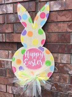 Easter Door Hanger Easter Bunny Door Hanger by CrazyArtTeacherLady