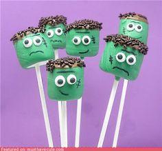 Epicute: Frankenstein's Monster Marshmallow Sticks