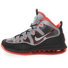 new concept 98d27 98cb6 Nike Air Max Uptempo Fuse 360 Mens 555103-002 Grey Red Basketball Shoes  Size 9.5