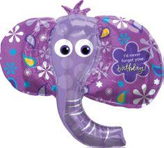 purple elephant | Elephant Birthday Balloon, Large Purple Elephant Balloon
