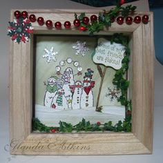 Shadow Box Ideas | Shadow Box Snowmen