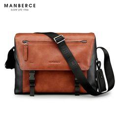 108.30$  Watch here - http://aliizi.shopchina.info/1/go.php?t=32734800593 -  MANBERCE Brand Handbag Men Shoulder Bags Fashion Tote Laptop Bag Leather Briefcase Men's Messenger Bag Free Shipping  #magazineonlinewebsite