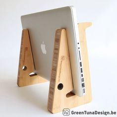 ergonomic laptop stand for your desk in high by greentunadesign