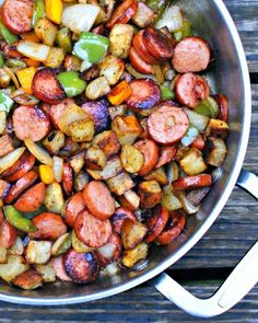 Healthy Kielbasa, Pepper, Onion and Potato Hash