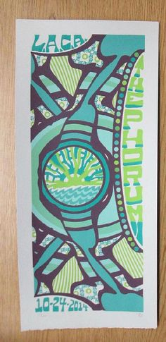 Original silkscreen concert poster for Phish at The Forum in Los Angeles, California on October 24, 2014. 10 x 22 inches. It is printed on Watercolor Paper with Acrylic Inks. The poster is signed and numbered out of 120 by the artist Tripp.
