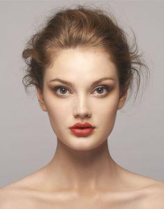 Romantic wedding makeup. Photo by Luis Aragon. Model: Kathleen McGonigle of Modelogic