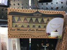 Cake Bunting, Just Married, Valance Curtains, Weddings, Vintage, Home Decor, Homemade Home Decor, Valence Curtains, Mariage
