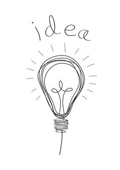 light bulb sketch with be the light