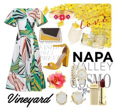 """""""WineYard Fashion """" by valeria-lugo ❤ liked on Polyvore featuring Emilio Pucci, Lipstick Queen, âme moi, Steve Madden, Lana, Charlotte Russe, Kendra Scott, Kate Spade, napa and winerywedding"""