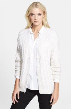 Equipment Suzy Cable Knit Cardigan | Sweater and Clothing