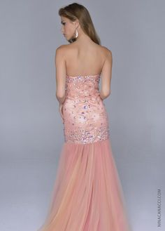 Peach fit and flare
