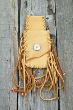 Rustic fringed hip bag Fringed leather belt bag