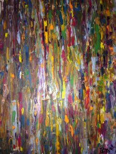 Painting: Oil Painting- Abstract Jagged Lines