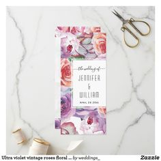 Pick your perfect wedding program with Zazzle. Unique Wedding Programs, Wedding Ceremony Programs, Rose Wedding, Floral Wedding, Watercolor Rose, Vintage Roses, Ultra Violet, Perfect Wedding, Create Yourself