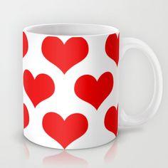 Holidaze Love Hearts Red Mug