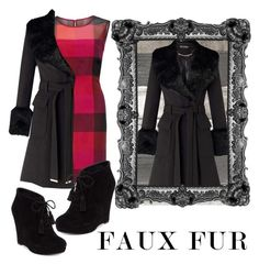 """""""Faux Fur Contest"""" by lucindalarson ❤ liked on Polyvore featuring Gina Bacconi, Miss Selfridge and Jessica Simpson"""