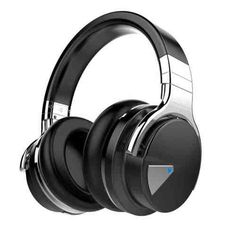 COWIN Active Noise Cancelling Bluetooth Headphones with Microphone Hi-Fi Deep Bass Wireless Headphones Over Ear, Comfortable Protein Earpads, Playtime for Travel Work TV Computer Iphone - Black * Click image for more details. (This is an affiliate link) Best Bass Headphones, Best Noise Cancelling Headphones, Headphones With Microphone, Headphone With Mic, Bluetooth Headphones, Over Ear Headphones, Skullcandy Headphones, Audiophile Headphones, Headphone Holder