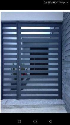 Gate Wall Design, House Fence Design, Door Design, Gate Designs Modern, Modern Fence Design, Home Room Design, Home Interior Design, Home Entrance Decor, House Entrance